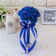 Bryllupsblomster Rund Roser Buketter Bryllup Sateng Elastisk Sateng Skum 5.91 tommer (ca. 15cm)