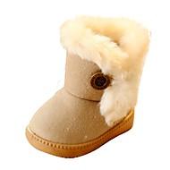 Mädchen Baby Stiefel Komfort Schneestiefel Pelz Kunstleder Frühling Herbst Winter Normal Walking Komfort Schneestiefel PlateauBeige