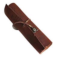 opbergzakken vintage piraat roll pen etui pocket map pack make-up tasje zak caribbean (willekeurige kleur)