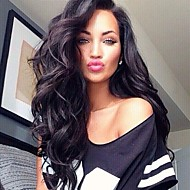 10A Brazilian Virgin Human Hair Natural Black Color Long Body Wave Lace Front With with Baby Hair