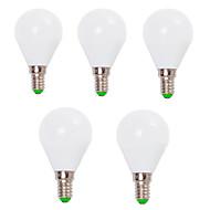 7W E14 / E26/E27 LED kulaté žárovky G45 12 SMD 2835 800 lm Teplá bílá / Chladná bílá Ozdobné V 5 ks