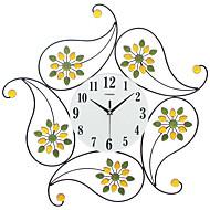Moderne/Contemporain Niches Horloge murale,Autres Verre Fer Métal Polyrésine 62*62CM Intérieur Horloge
