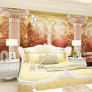 Art Deco / 3D Papel de Parede Para Casa Retro Revestimento de paredes , Tela Material adesivo necessário Mural , quarto Wallcovering