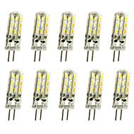 10 pcs 1w g4 led bi-pin lights 24 smd 3014 100lm dimmable blanc chaud / cool blanc dc12v