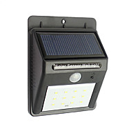 12 levou ao ar livre solares à prova d'água movimento de segurança luzes sensor de luz noite sem fios energizados
