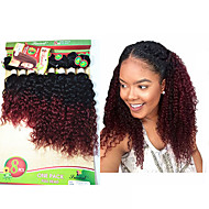 8-14 inch 8 pcs / lote brazilian profundamente encaracolado ombre cor de Borgonha virgem cabelo brasileiro virgem cabelo kinky curly tece