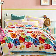 bedtoppings deken flanel coral fleece queen size 200x230cm kleurrijke prints dik 310gsm