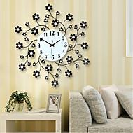 Moderne/Contemporain Bureau / Affaires Famille Ecole/Diplôme Amis Horloge murale,Nouveauté Cristal Métal 55*55 Intérieur Horloge