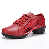 Damen Schuhe PU Frühling Herbst Komfort Sneakers Runde Zehe Geschlossene Spitze Für Normal Weiß Schwarz Rot