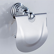 Toiletrolhouder / Gepolijst messingMessing /Modern