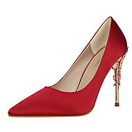 Ženske Cipele na petu Proljeće Jesen Udobne cipele Svila Formalne prilike Stiletto potpetica Zelen Plava Pink Burgundac Svjetlosmeđ