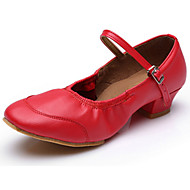 Dansesko(Sort Rød) -Kan tilpasses-Flade hæle-Damer-Moderne