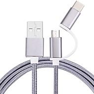 100 cm micro usb type-c kabel gevlochten mobiele telefoon kabel voor Samsung Sony Ericsson Htc Motorola Lg Lenovo Xiaomi 100 cm nylon