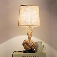 American Creative hemp LED Lamp Bedroom Living Room Became Retro Bedside Cloth Bar Decoration Lamp Personality