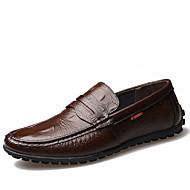 Miehet kengät Nahka Kevät Kesä Syksy Talvi Comfort Mokkasiinit Muotisaappaat Mokkasiinit Röyhelöity Käyttötarkoitus Kausaliteetti Juhlat