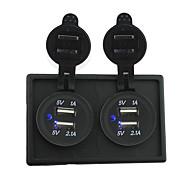 12V / 24V 2pcs 3.1a usb Steckdose mit Panel-Gehäuse Halter für LKW rv Auto Boot