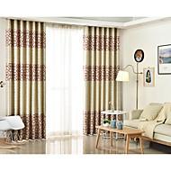 2개 판넬 윈도우 치료 지중해 , 기하학적 침실 린넨/폴리에스테르 혼방 자료 정전 커튼 커튼 홈 장식 For 창문