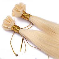 Fuzja gorący sprzedawanie wstępnie połączone u przechylić keratyny rozszerzeń przedłużania włosów 1g / nić paznokci włosów 100s / lot