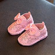 Baby Flache Schuhe Komfort Schuhe für das Blumenmädchen Kunstleder Frühling Herbst Normal Walking Klettverschluss Niedriger AbsatzWeiß