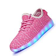 Para Meninas-Tênis-Light Up Shoes-Rasteiro-Preto Azul Rosa Branco-Tecido-Para Esporte
