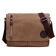 Unissex Bolsas Todas as Estações Lona Messenger Bag com para Casual Esportes Formal Marron Preto
