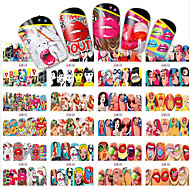 1pcs 12 design Nail Art tarra Veden siirto Decals meikki Kosmeettiset Nail Art Design