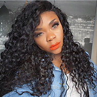 8A Kinky Curly Lace Front Wigs Brazilian Human Hair Wigs Natural Black With Baby Hair For Women