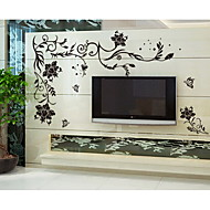 Botanical Romance Fashion Florals Landscape Fantasy Wall Stickers Plane Wall Stickers Decorative Wall Stickers,Vinyl Material Removable