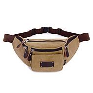 Unisex Taschen Ganzjährig Leinwand Hüfttasche mit für Normal Sport Formal Gewerbliche Verwendungen Schwarz Grau Kaffee Khaki
