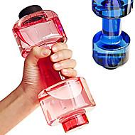 1pcs bequem personalisierte Hantel Tasse Fitness-Wasserflasche Plastikbecher dicht 550ml bequem versiegelt für Fitness-Sport-Flasche