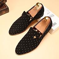 Oxford-kengät-Tasapohja-Miehet-Nahka-Kulta Musta Hopea Sininen-Häät Rento Juhlat-Comfort