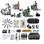 Полный комплект татуировки 2 х Стальная тату-машинка для контура и заливки 2 х сплава татуировки для облицовки и затенение 3татуировки