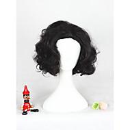 Mulher Perucas sintéticas Sem Touca Curto Enrolado Preto Peruca para Cosplay Peruca de Halloween Peruca de carnaval Perucas para Fantasia