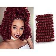 Twist punokset Virkkaus Bouncy Curl 100% kanekalon-hiuksia KanekalonBlack / Mansikka Blonde Black / Medium Auburn Musta / Burgundy Musta