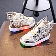 Para Meninas-Tênis-Light Up Shoes-Rasteiro-Dourado Prateado Rosa claro-Sintético Tecido-Casual Para Esporte Festas & Noite