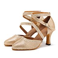 Dansesko(Guld Sølv) -Kan tilpasses-Personligt tilpassede hæle-Damer-Moderne