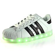 Jongens Sneakers Zomer Herfst Eerste schoentjes Oplichtende schoenen Luminous Shoe PU Buiten Casual Sport Lage hak LED Zwart Roze