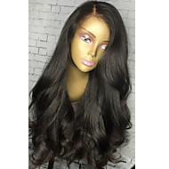 Women Human Hair Lace Wig Brazilian Human Hair Lace Front Glueless Lace Front 130% Density With Bangs With Baby Hair Curly Wavy Wig Dark
