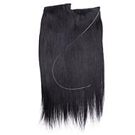18inch piilotettu näkymätön lanka 100% Remy hiusten pidennykset 80g