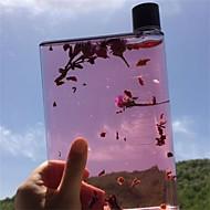 Transparent Minimalismus Trinkbecher, 420 ml Ergonomisches Design Plastik Saft Wasser Gläser und Tassen für den täglichen Gebrauch