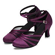 Dansesko(Sort Lilla) -Kan tilpasses-Personligt tilpassede hæle-Damer-Moderne