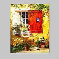 Maalattu Asetelma Vaakasuora,Välimeren European Style 1 paneeli Kanvas Hang-Painted öljymaalaus For Kodinsisustus
