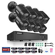Annke® 8ch 8pcs 720p видеокамера hd 4in1 dvr ip сеть домашнее наблюдение система безопасности cctv