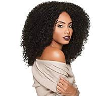 Kvinder Syntetiske parykker Lokkløs Lang Krøllete Afro Svart Afroamerikansk parykk Til fargede kvinner Naturlig parykk costume Parykker