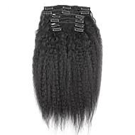 Brasilian uuden 100% hiuksista leikkeen ins afro kinky kihara leikkeen ins laajennuksia hiuspunosten luonnon musta väri 7 kpl / setti