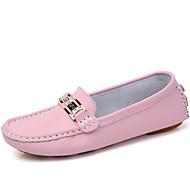 Loafers para mulheres&Slip-ons verão queda conforto PU escritório ao ar livre&Carreira casual blushing rosa azul vermelho