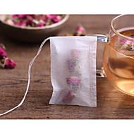 100pcs / lot sacos de chá 5,5 x 7cm sacos de chá perfumado vazio com corda cura papel de filtro selo para chá de ervas soltas