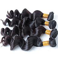 Cabelo Humano Ondulado Cabelo Brasileiro Retas 18 Meses 4 Peças tece cabelo