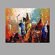Maalattu AsetelmaAbstrakti Moderni/nykyaikainen 1 paneeli Kanvas Hang-Painted öljymaalaus For Kodinsisustus