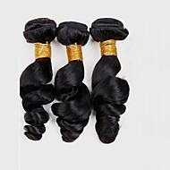 Menneskehår Vevet Peruviansk hår Løse bølger 18 måneder 3 hår vever